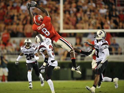 It's a bird!  No, it's a plane!  No, it's AJ Green being a badass!